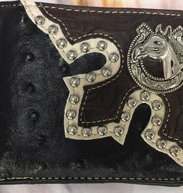 Wallet - Blllfold w/ horse concho