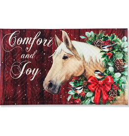 Christmas embossed floor mat