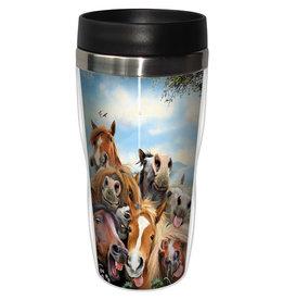 Travel Mug Horse Selfie