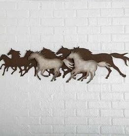 Running Horses Wall Decor Metal