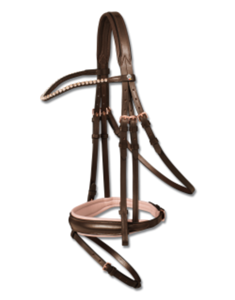 Bridle X-Line Rose Gold Brown