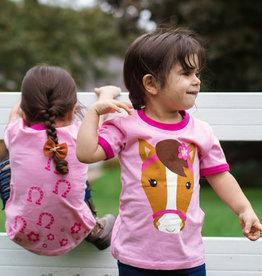 Pink Horse Shirt Kids