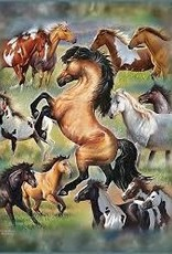 Horse Collage Queen Size Blanket