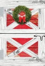 Christmas Card Barn Door