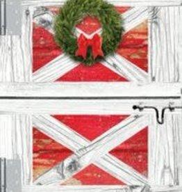 Christmas Card Barn Door