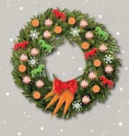 Christmas Card Wreath/Peppermints/Carrots