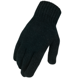 Chenille Knit Glove Black