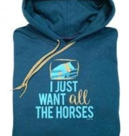 Stirrups I just want all the horses Hoodie