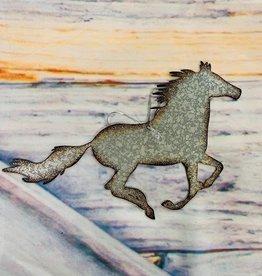 Metal Running Horse