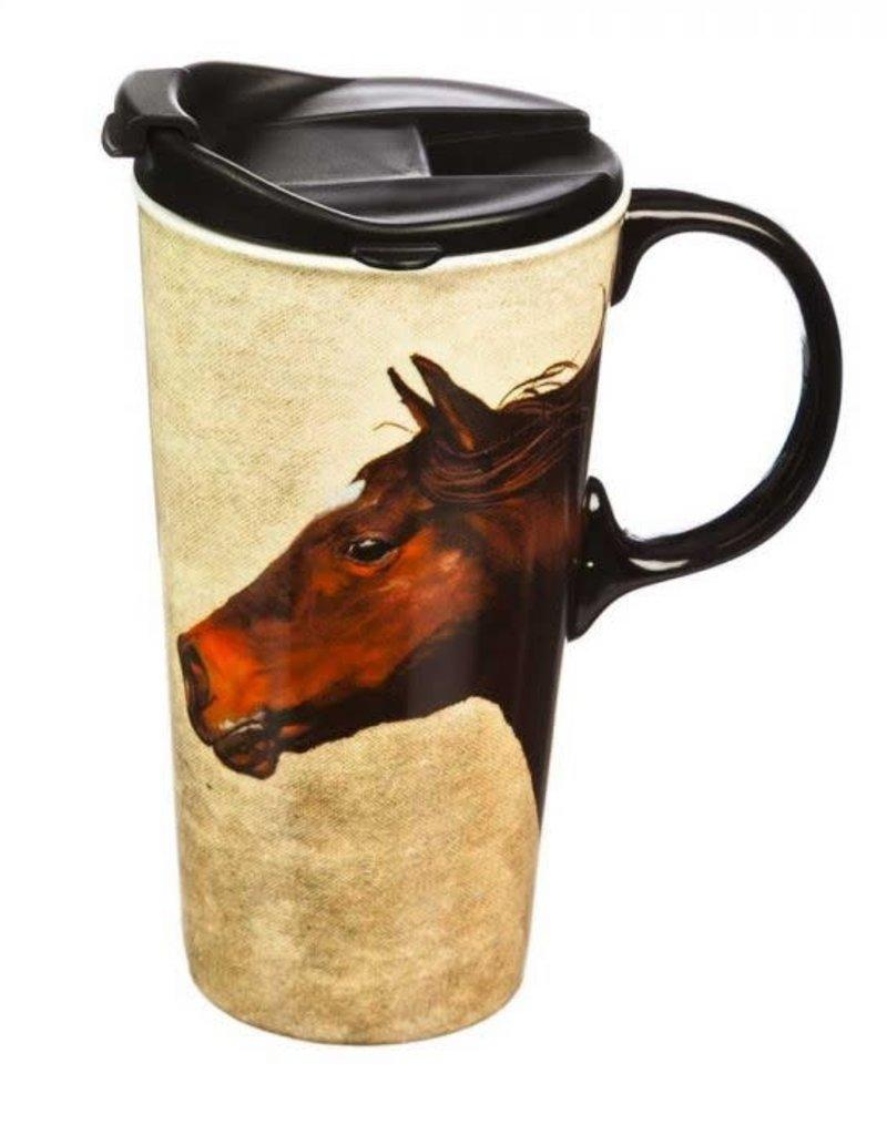 Boxed Mug Running Horses