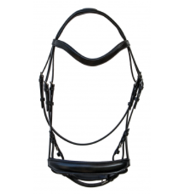 Royal Highness Leather Dressage Bridle Curved Shaped RHC