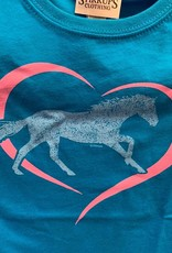 Stirrups Horse in Heart Kids Tee