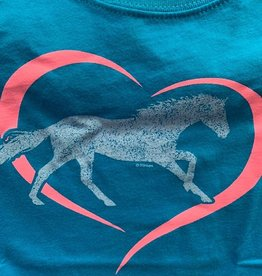 Stirrups Horse in Heart Kids Tee