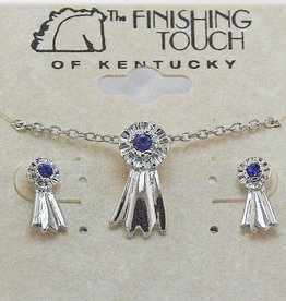 Blue Ribbon Gift Set - Silver Finish