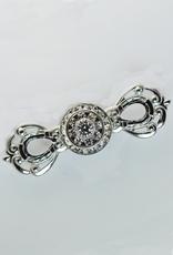 Pin with horseshoe bow