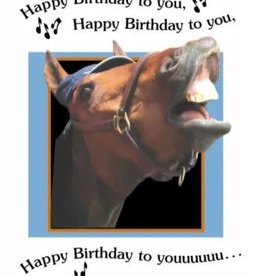 Card Singing Happy Birthday Horse