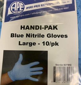 Handi Pak Blue Nitrile Gloves Large