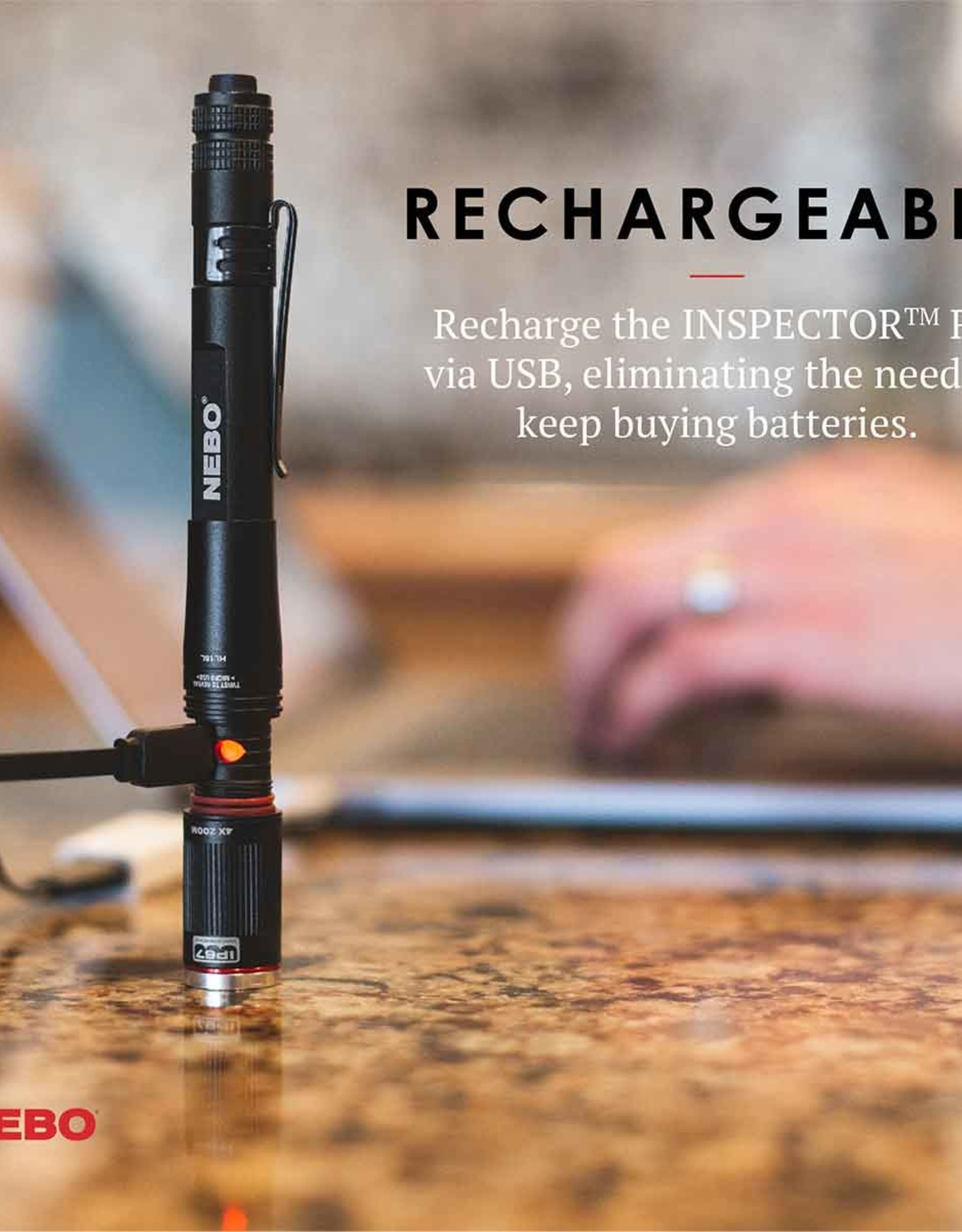 Nebo rechargeable flashlight