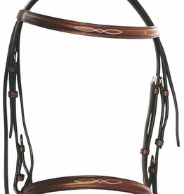 BRIDLE HDR FANCY RAISED SNAFFLE