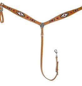 Tuff Rider Breast Collar Beaded Inlay Horse size brown