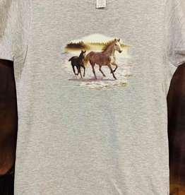 T-Shirt Woman's Running Horses
