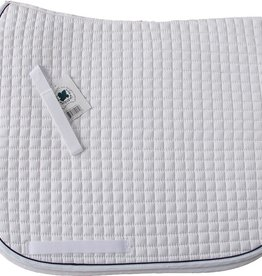Cotton Quilted Dressage Square Pad, w/piping (2-colors)