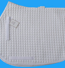 Cotton Quilted A/P Square Pad, w/piping (2-colors)
