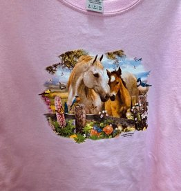 Kids T Shirt Mare and Foal Design