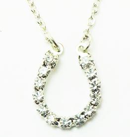 Necklace with crystal horseshoe