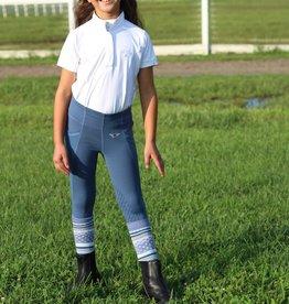Equine Couture Girls Cara  Short Sleeve Show Shirt