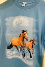 T shirt - Horses running in water