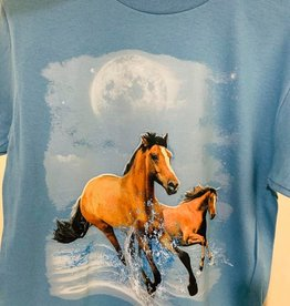 T shirt - Horses running in water