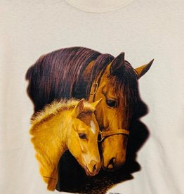 Adult T Shirt with Mare & Foal Design