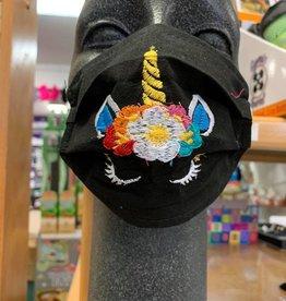 Kids Face Mask w/ Unicorn asst colors