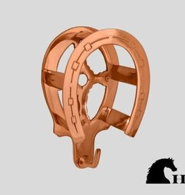 Horse Fare Brass Horseshoe Bridle Bracket-Rose Gold