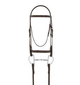 Camelot Plain Raised Padded Bridle with Laced Reins