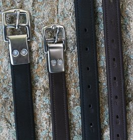 BLACK OAK RIVETED HALF HOLE STIRRUP LEATHERS
