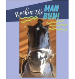 Greeting Card Rockin the Man Bun