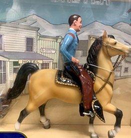 Retired Breyer Cowboy and Prancer