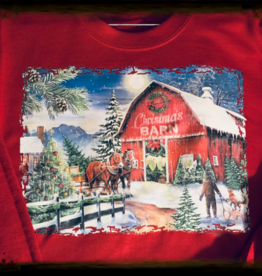 Adults Christmas sweatshirt with horses