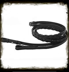 "Tory Reins Laced 60"" w/ hook studs Black"
