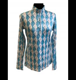 Royal Highness Shirt Ladies pattern Long Sleeve 1/4 Zip