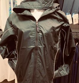 Jacket with hood and Piping Water Resistant