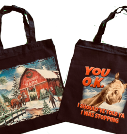 Tote bag with horse design