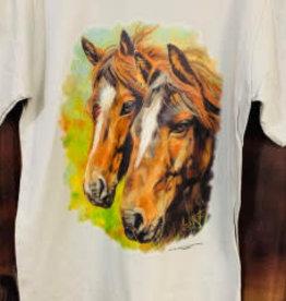 Childs t shirt 2 horse design
