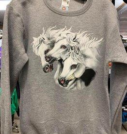 Sweatshirt 3 White Horses