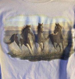 Adult Size T-Shirt Running horse design