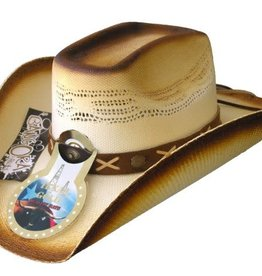 Cowboy Hat Texas Gold 8 Sec 3 Tone Brown