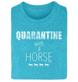 Stirrups Quarantine with a Horse Ladies Short Sleeve Tee