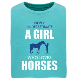 Stirrups Never Underestimate Girls Short Sleeve Tee